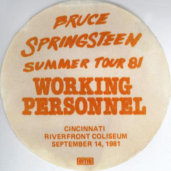 Pass for the 14 Sep 1981 show at Richfield Coliseum, Cleveland, OH
