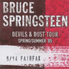 Pass for the 14 May 2005 show at Patriot Center, Fairfax, VA