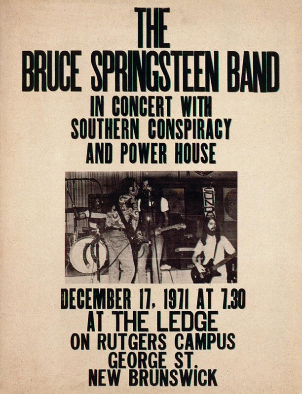 Promotional poster for the 17 Dec 1971 show at Rutgers University, New Brunswick, NJ