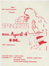 Promotional poster for the 04 Apr 1976 show at Michigan State University, East Lansing, MI