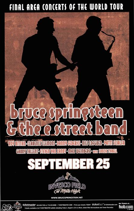 Promotional poster for the 25 Sep 2003 show at Invesco Field At Mile High, Denver, CO