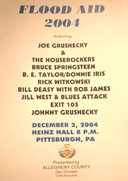 Promotional poster for the 02 Dec 2004 show at Heinz Hall, Pittsburgh, PA