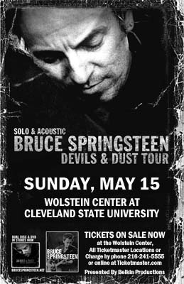 Promotional poster for the 15 May 2005 show at Wolstein Center At Cleveland State University, Cleveland, OH