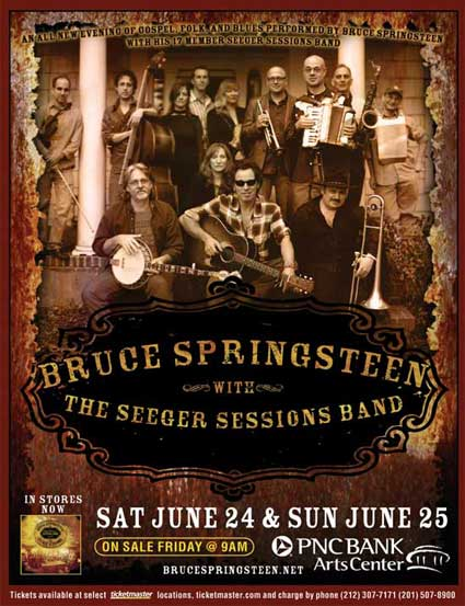 Promotional poster for the 24-25 Jun 2006 shows at PNC Bank Arts Center, Holmdel, NJ