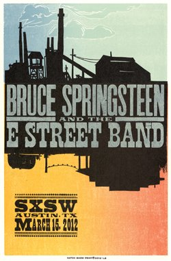 Promotional poster for the 15 Mar 2012 SXSW event in Austin, TX