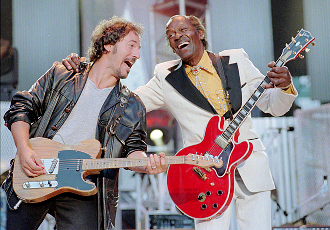 Bruce Springsteen and Chuck Berry