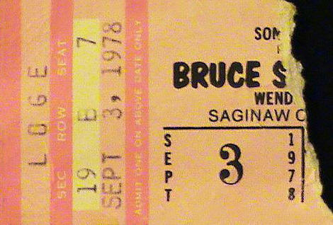 Ticket stub for the 03 Sep 1978 show at Saginaw Civic Center, Saginaw, MI