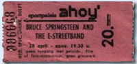 Ticket stub for the 28 Apr 1981 show at Sportpaleis Ahoy, Rotterdam, The Netherlands