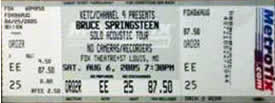 Ticket stub for the 06 Aug 2005 show at Fox Theatre, St. Louis, MO